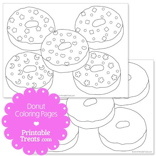 Printable Donut Coloring Pages Donut Theme Party Donut