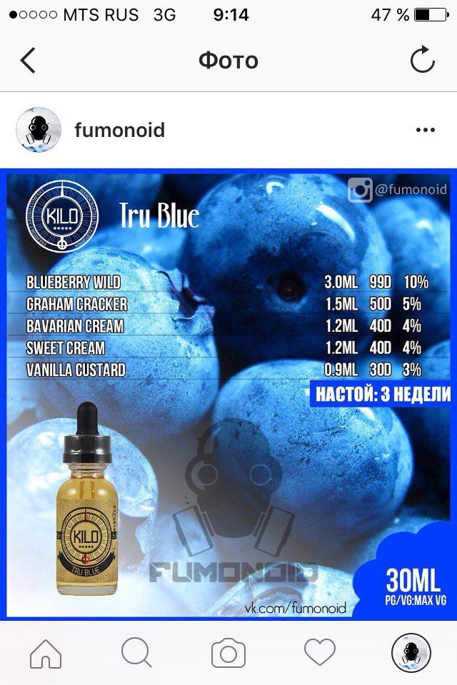 Рецепты (TPA / Other) – 355 photos | VK | E-liquid Recipes in 2019
