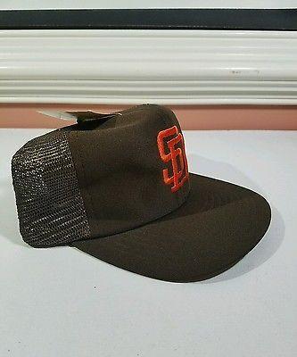 e7b617a51dbc3 90 s San Diego Padres SD Snapback Hat Cap MLB Baseball Trucker Vintage NWT  NEW