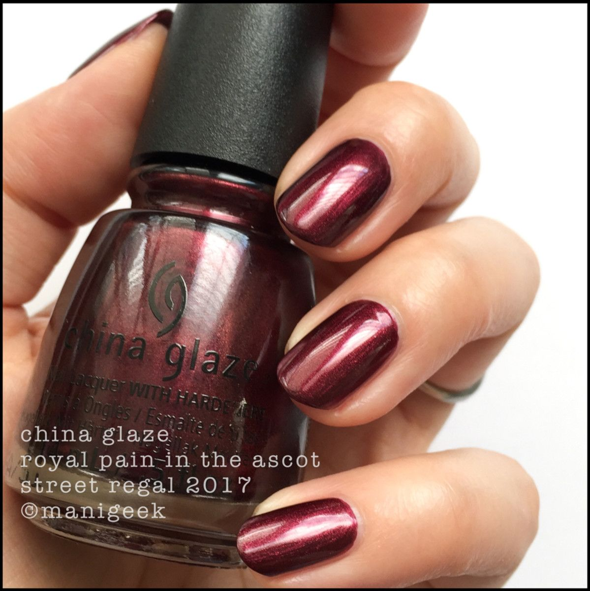 Nail Color Combinations 2017: CHINA GLAZE STREET REGAL FALL 2017 COLLECTION SWATCHES
