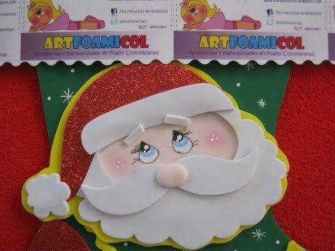 Como hacer papa noel o santa claus con moldes para bota navide a fofuchas pinterest como - Papa noel decoracion navidena ...