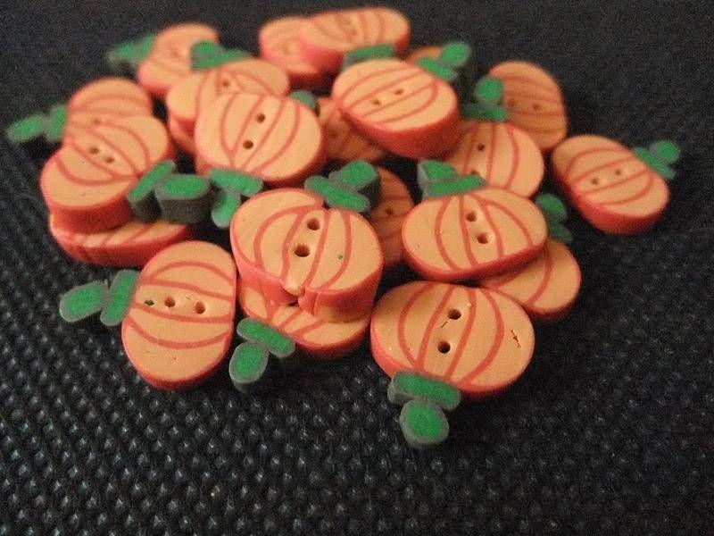 Boutons Citrouilles - boutons - Boutique Fait Maison d'Universfimo  - Fait Maison