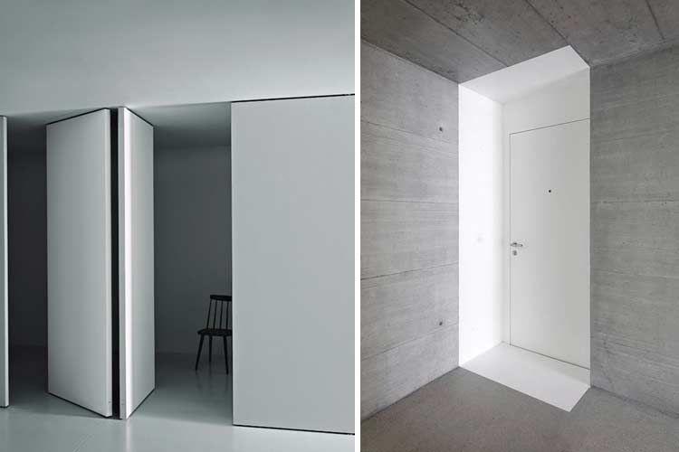 Puertas minimalistas ocultas en la pared puertas invisibles lo imposible en 2019 portas - Puertas correderas ocultas ...