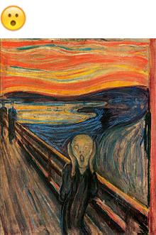 emoji art history | Famous art paintings, Scream art