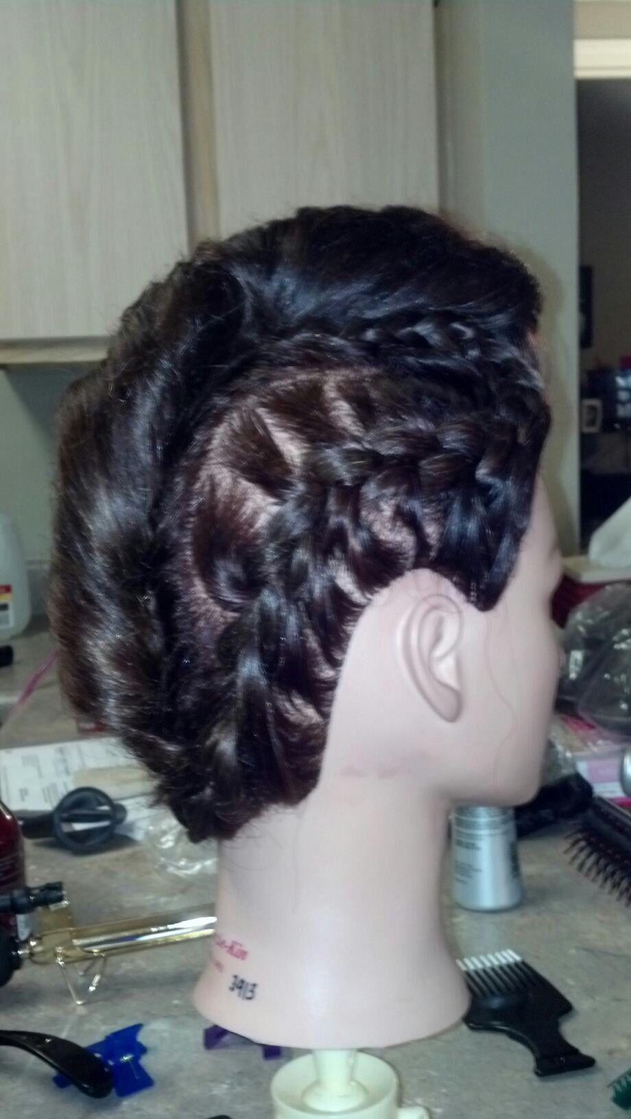 Braided mohawk updo hair comps pinterest mohawk updo