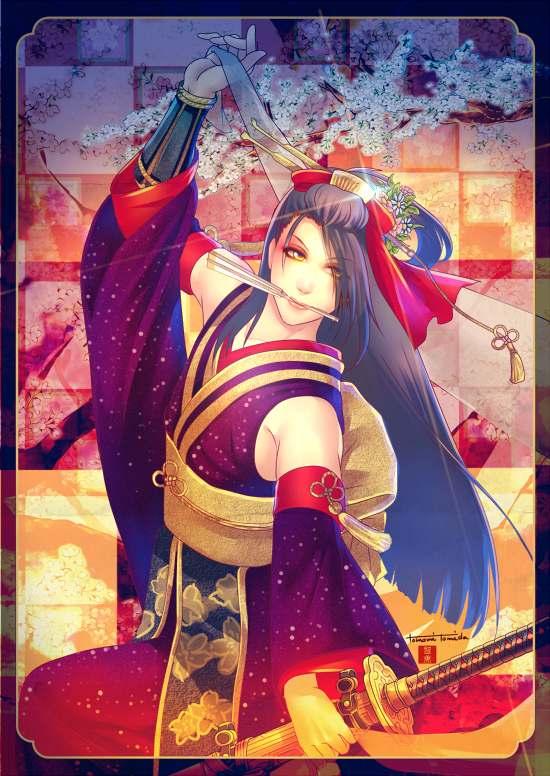Beautiful Jirou Tachi which his character designer drew. Photo by Tomomi Tomida official twitter(tomitomo_). #toukenranbu
