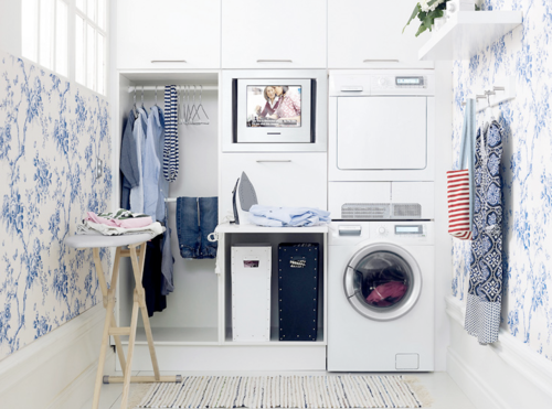 I could enjoy doing laundry here!