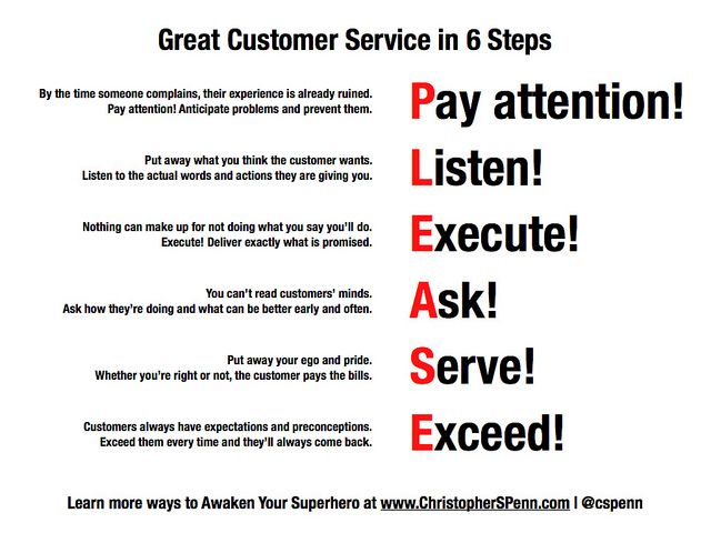 6 Steps To Great Customer Service Customer Service Quotes