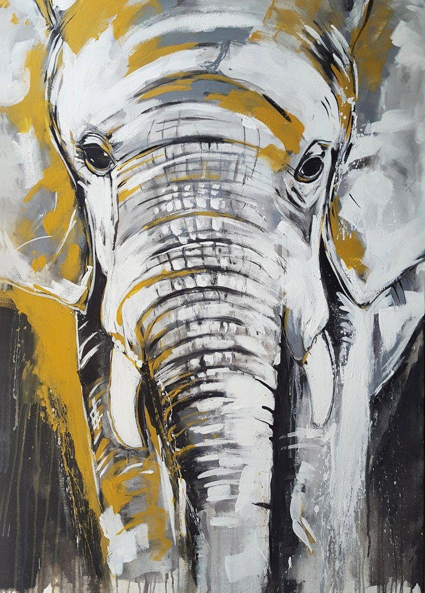 Kunstdruck Elefant Exklusive Wandbilder Afrika Kunst