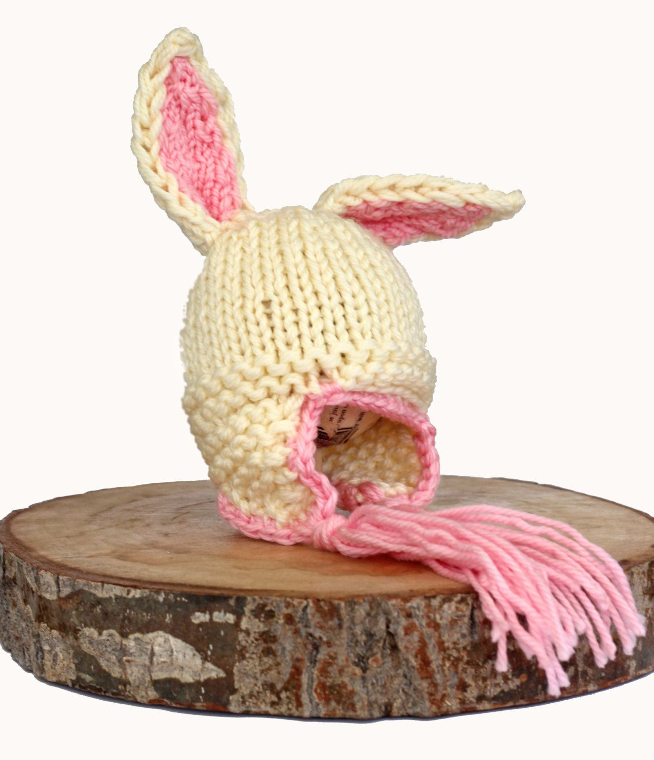 Adorable cream pink bunny hat makes a great photography prop or adorable cream pink bunny hat makes a great photography prop or easter gift negle Gallery