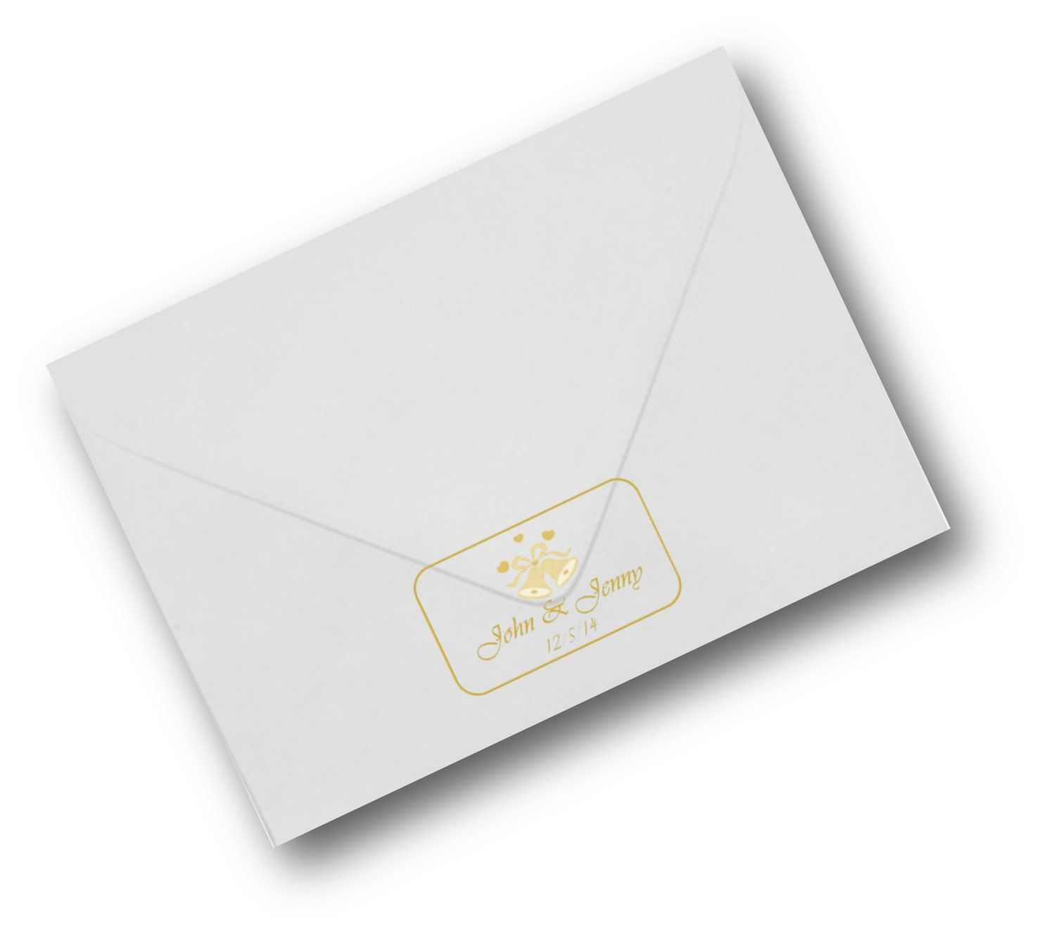 Wedding invitation seals gold or silver on clear labels 65 per sheet ...