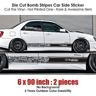 Subaru Sti Brz Wrx Xv Bomb Stripe Sticker Kit Rally Drift Hellaflush