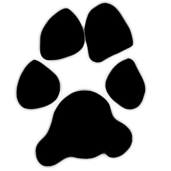large dog paw print clip art shape created from a real paw print rh pinterest com Animal Paw Clip Art Free vector dog paw print clip art free