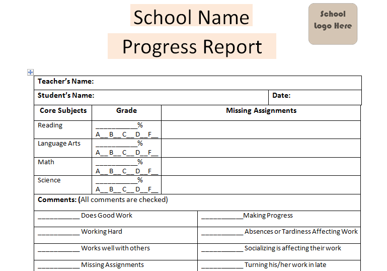 Download Daily Progress Report School Template | Excel Project