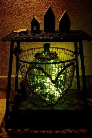 Weinballon mit Lichterkette LICHT Pinterest Lichterkette - wohnwintergarten wintersonne verglasung