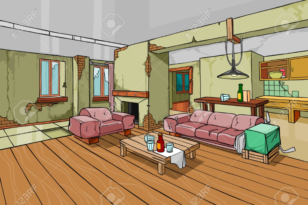 Cartoon Living Room And Kitchen Google Search Apartment Interior Living Living Room Images Living Room Background