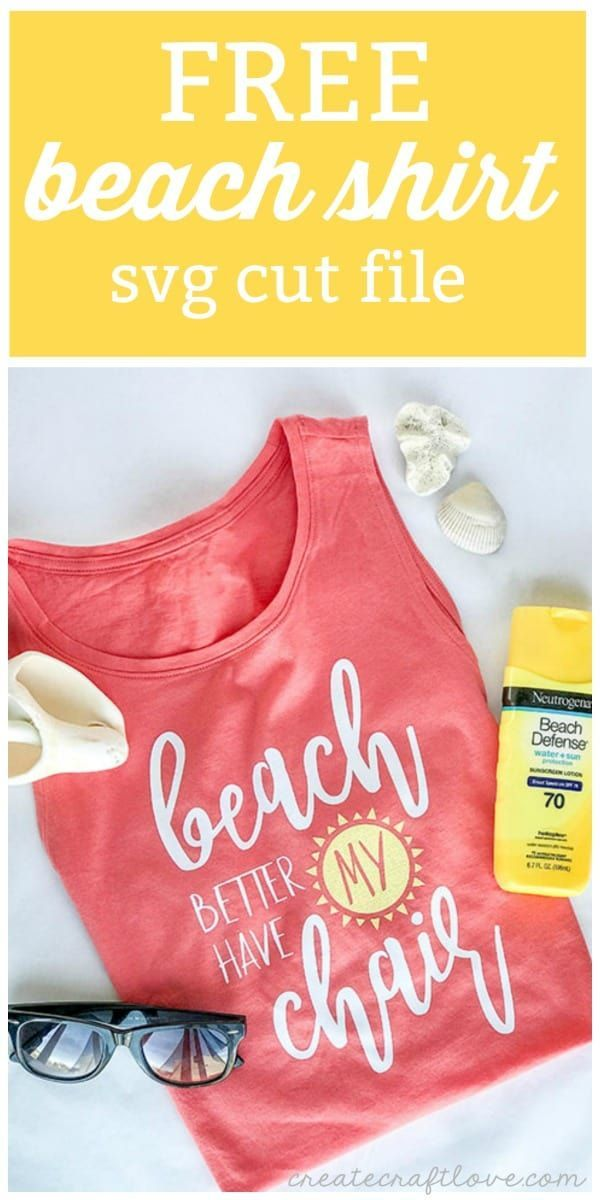 Free Beach Shirt SVG Cut File