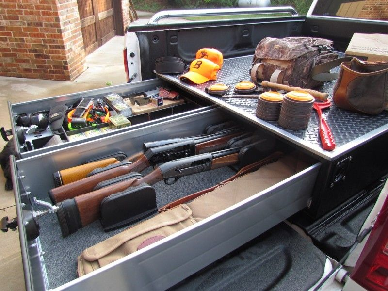 Diy car vault truck bed drawers on pinterest trucks off road and truck bed - Diy truck bed storage ...