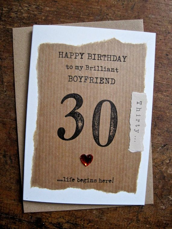 Husband 30th 40th 50th 60th 70th Personalised Birthday Card Hand Stamped Numbers Simple Unusual Desig Personalized Birthday Cards Birthday Cards Card Making