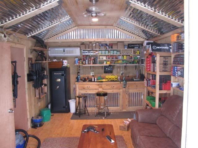 Gun rooms on pinterest reloading room gun storage and for Man cave storage