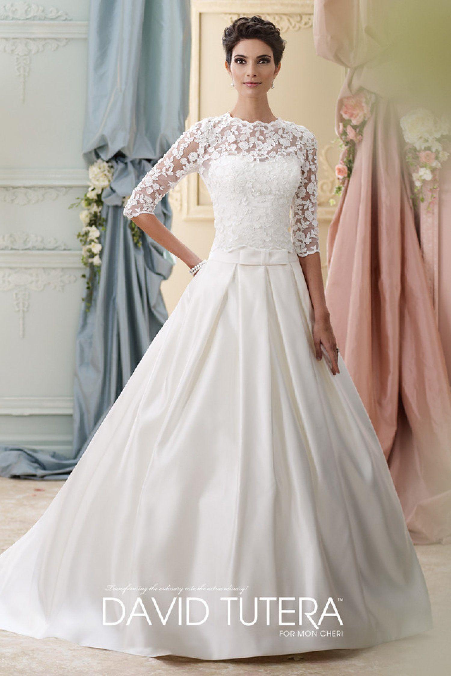 David Tutera for Mon Cheri | Ellie #modest | Modest (Tznius) Wedding ...