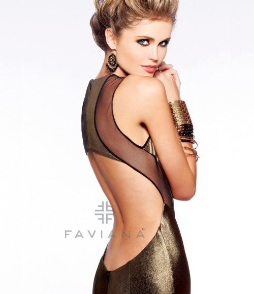 Exotic and sexy long gold prom gown 2013 by Faviana inspired by ...