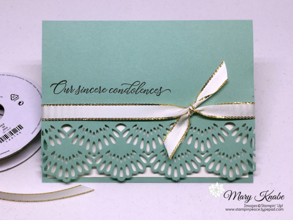 Take your card bases from plain to fancy using the new Delicate Lace Edgelits from Stampin' Up!