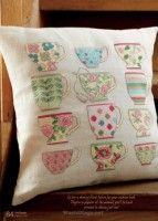 """Time for Tea"" designed by Lesley Teare  - Cross Stitcher 250 2012.03 - Los-ku-tik"