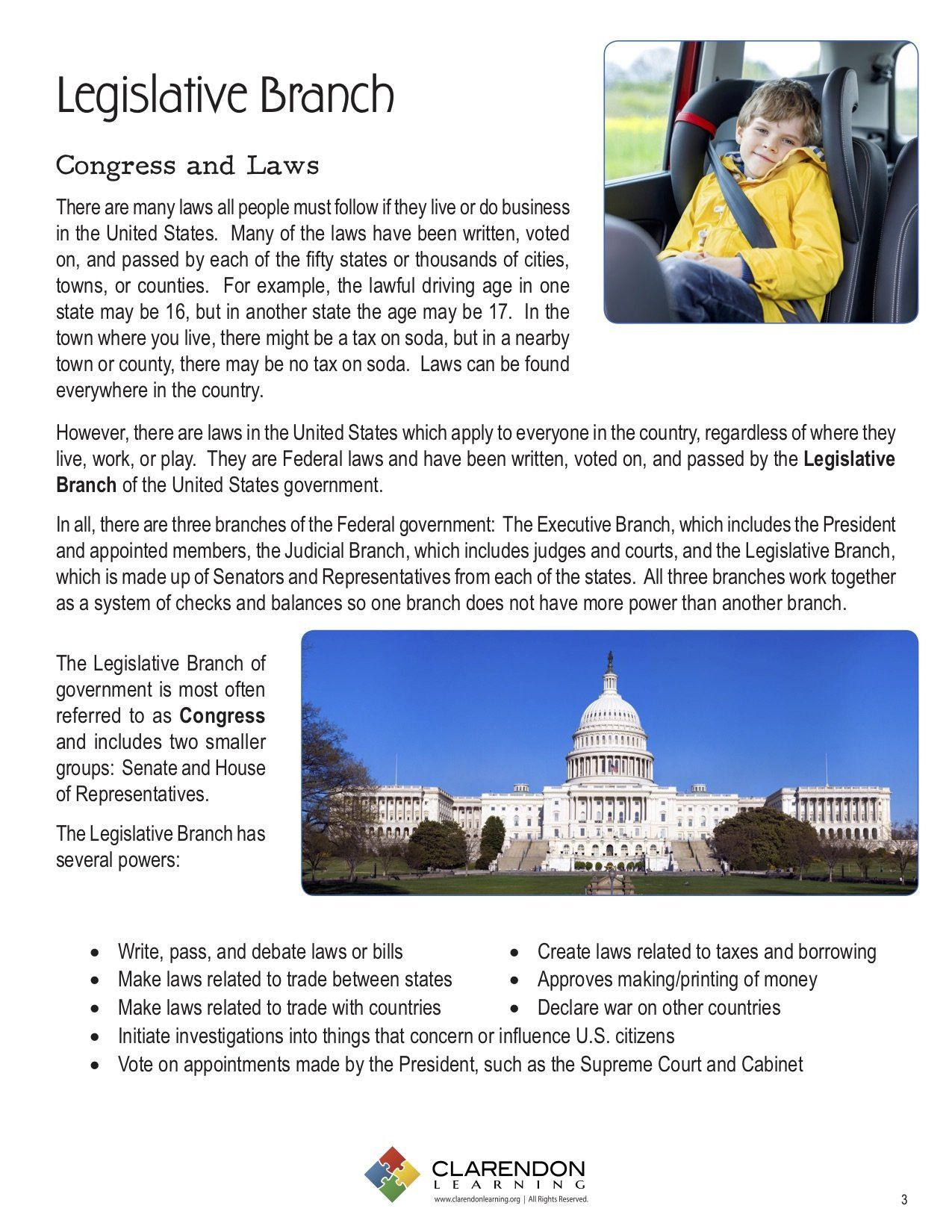 Our Courts The Legislative Branch Worksheet