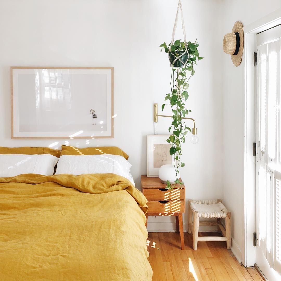Bored With White Bedding? This Sunny Hue Is Having a Major Moment
