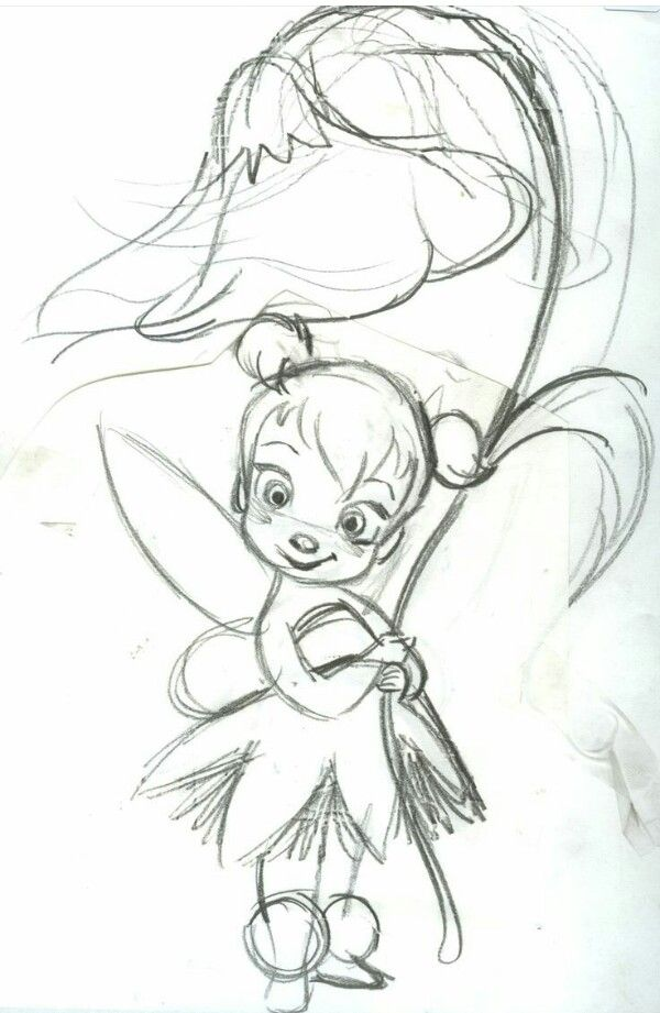 Small Tinker Bell With Images Fairy Drawings Cute Disney