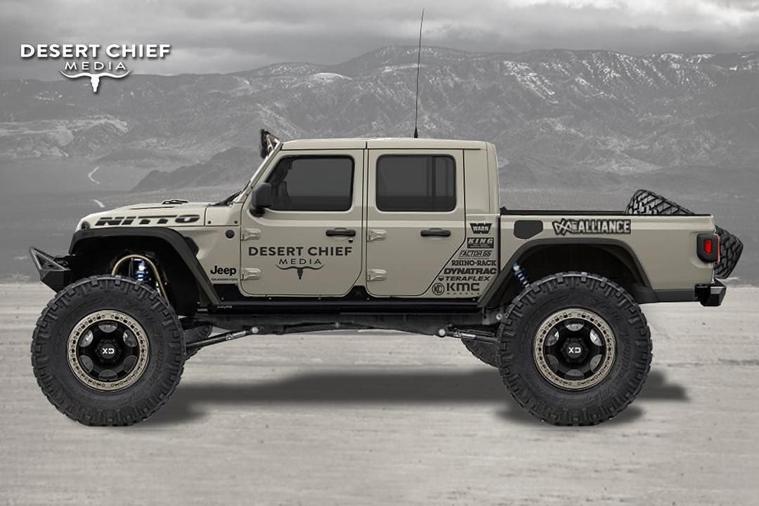 Gladiator Gang On Instagram What S Your Favorite Part Of This Build Rendering Done By Desertchief We Finalized Our 2020 Jeep Jeep Gladiator Jeep Truck Jeep