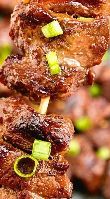 Asian Steak Kebabs                                                       …