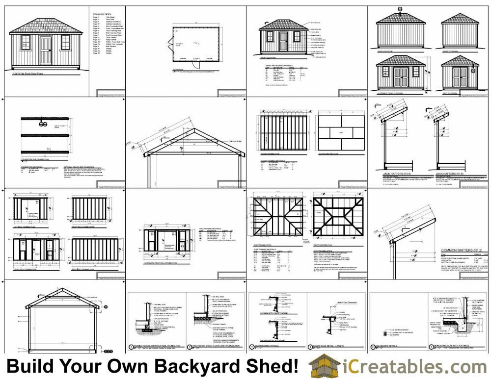 12x16 Hip Roof Plans Example Shed Roof Design Cool Sheds Hip Roof