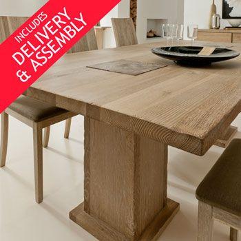 Costco UK - Samson Caravel Large Oak Dining Table, 240cm Length ...