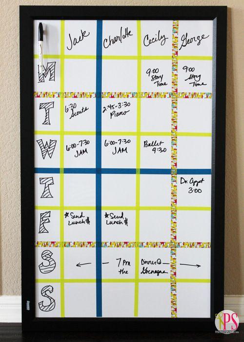 Dry Erase Weekly Schedule Board Schedule Board Dry Erase