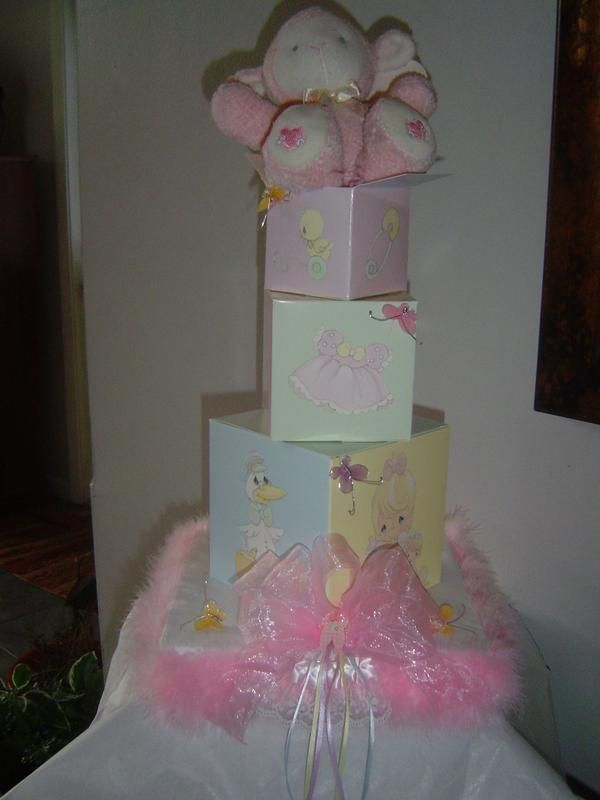 Precious Moments Baby Shower Table Centerpiece Made By Me.