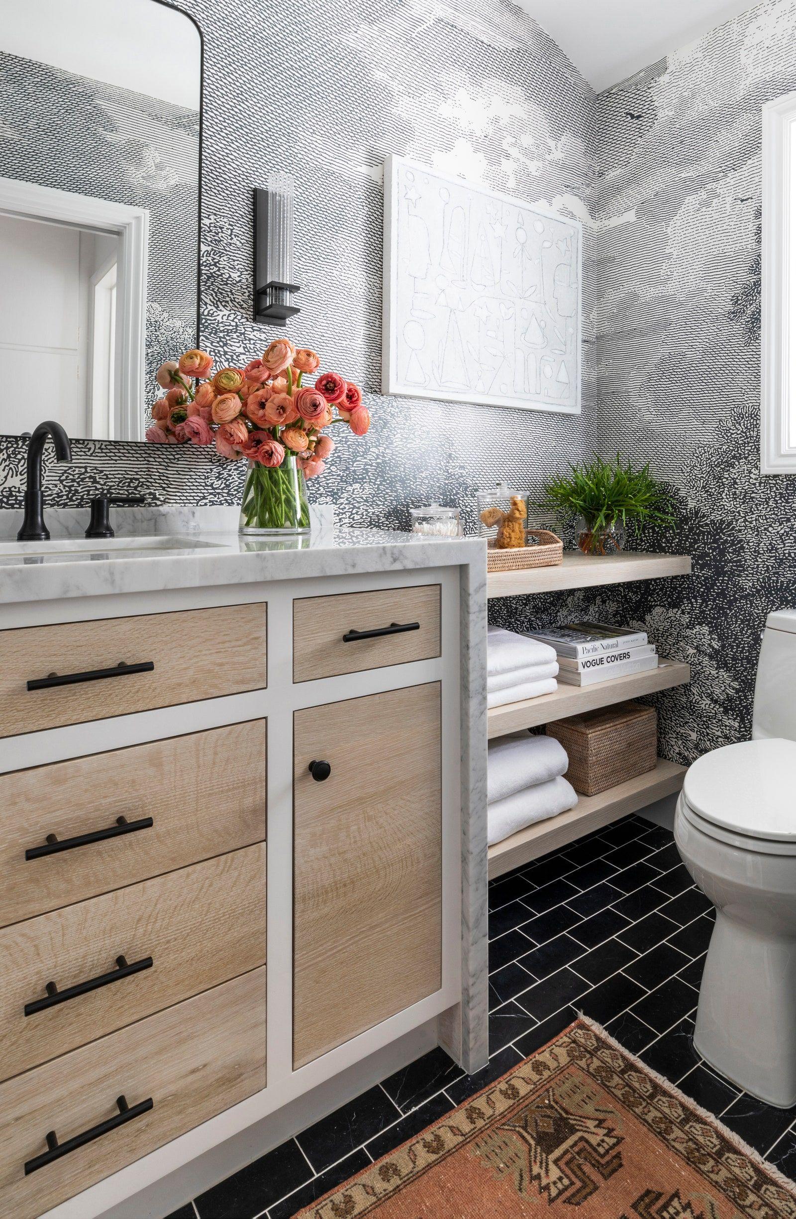 Gray Wainscoting Transitional Bathroom Architectural Digest Interior Home Decor Bathroom Design