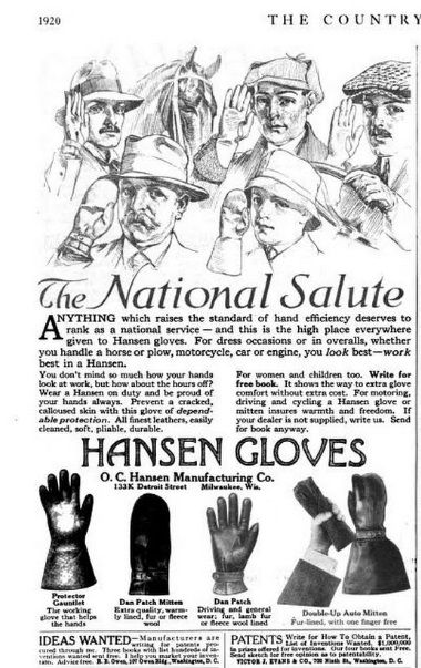 1917 October ad in The Country Gentleman for O.C. Hansen Manufacturing Company of Milwaukee