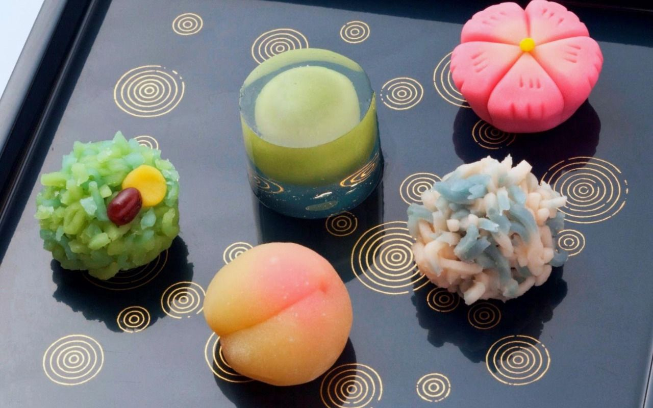 Wagashi Sweets Traditional Japanese Sweets Mit Bildern