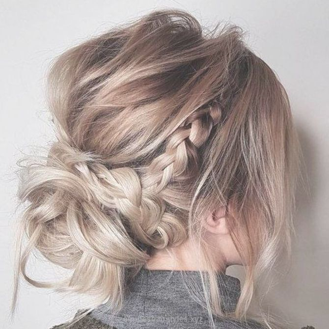 Messy Updo Hairstyles Crown Braid Hairstyle To Try Boho Hairstyle Easy Hairstyl Incredible Updos For Medium Length Hair Short Wedding Hair Medium Hair Styles