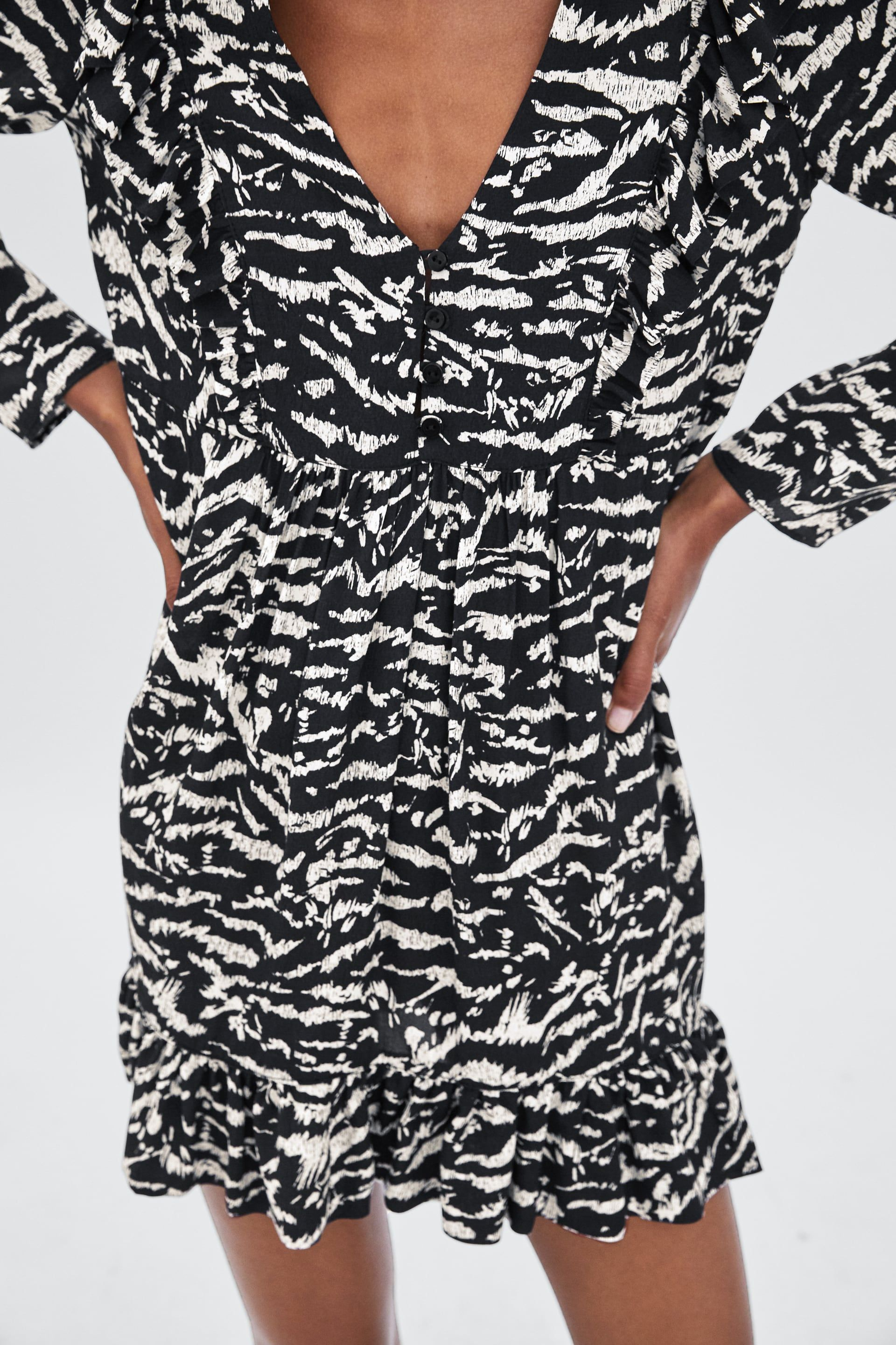 3f542c7a Image 5 of ANIMAL PRINT DRESS from Zara | Wildlife in print | Animal ...
