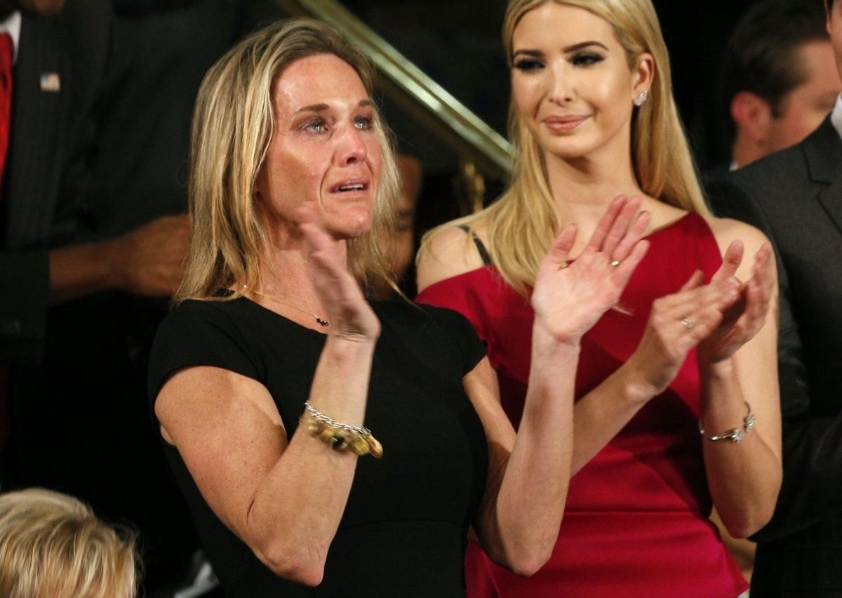 "Carryn Owens, widow of slain Navy SEAL William ""Ryan"" Owens, attended President Trump's speech to Congress."
