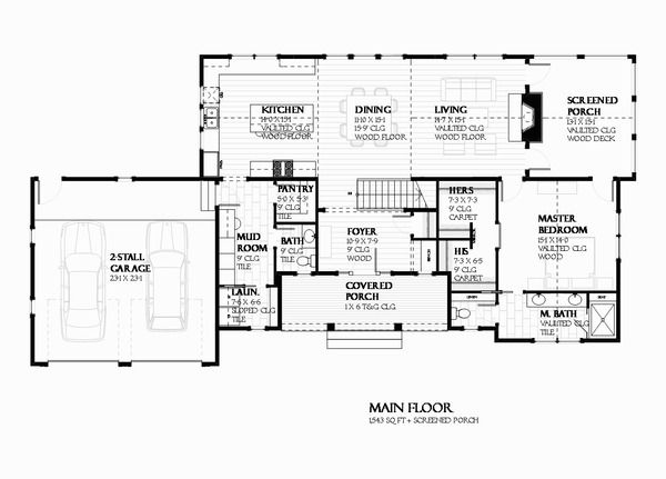 Ranch Style House Plan - 3 Beds 250 Baths 2679 Sq/Ft Plan #901-128