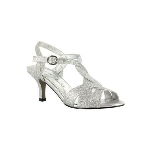 Easy Street Womens Alive At Five Sparkle Sandals ($60) ❤ liked on Polyvore  featuring