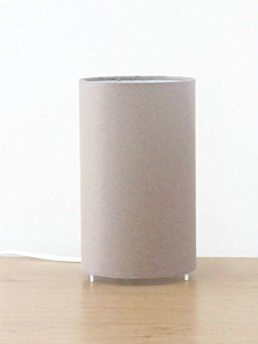 lampe tube taupe scandinave lampe chevet lampe d appoint