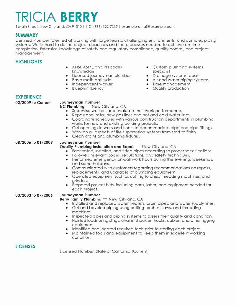 23 General Contractor Job Description Resume 2020 Job