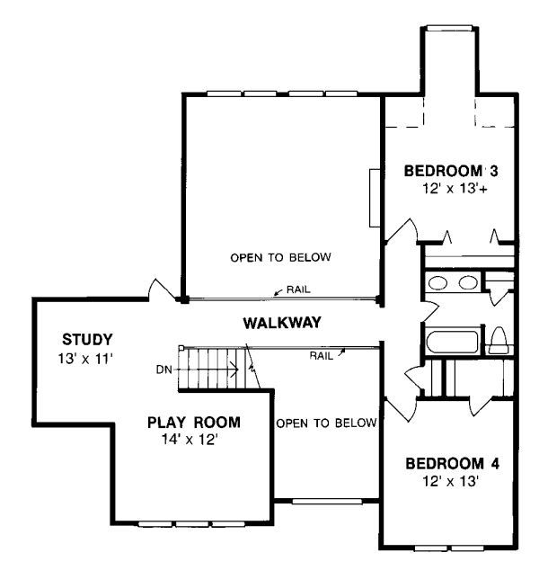 European Style House Plan 4 Beds 3 Baths 2978 Sq Ft Plan 20 286 House Plans Floor Plan Design Floor Plans