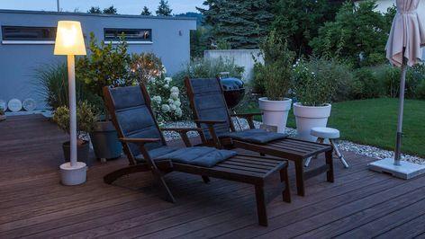 Outdoor-Stehlampe mit Beton selber machen Beton / Salzteig Pinterest
