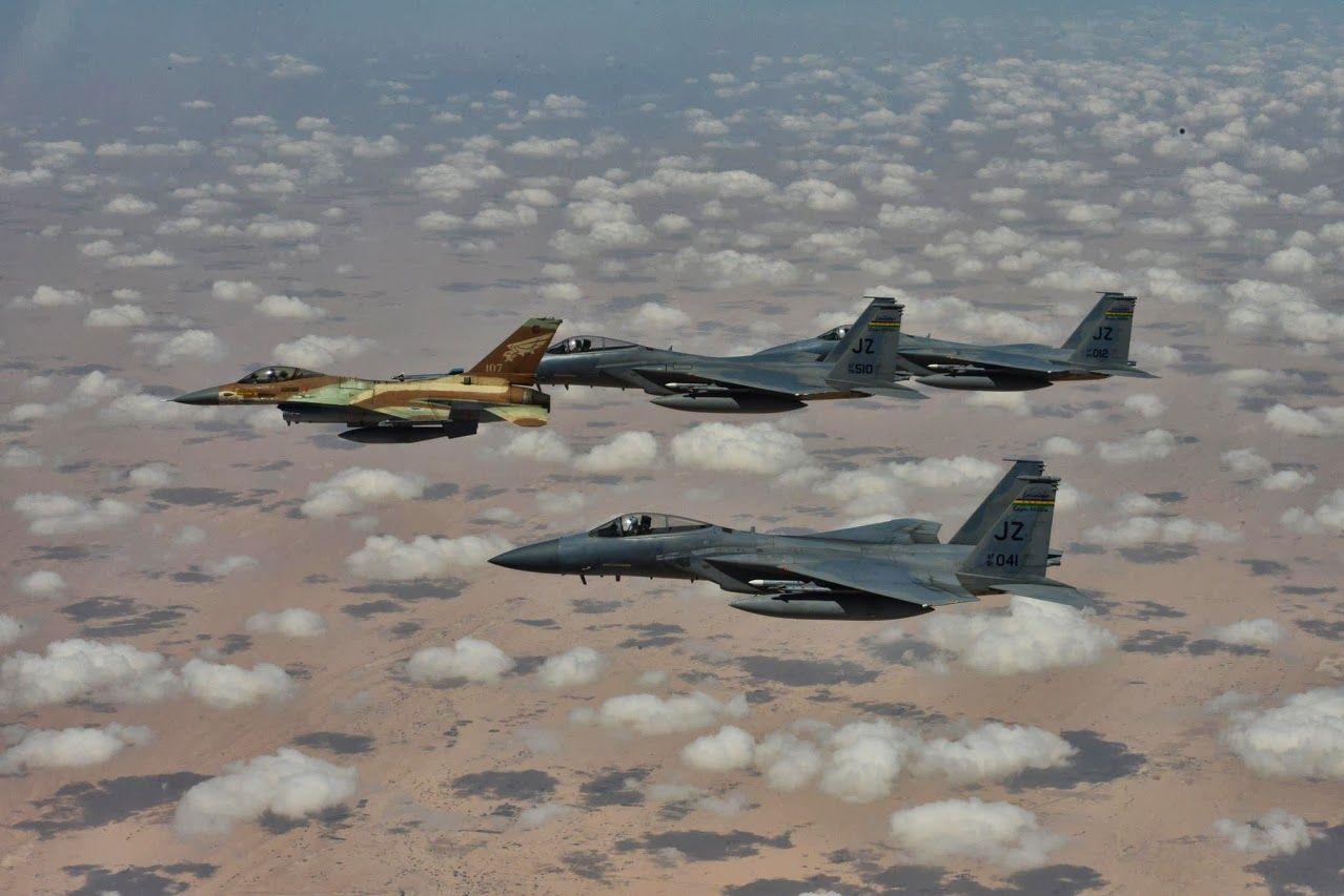 IDF F-16 USAF F-15s